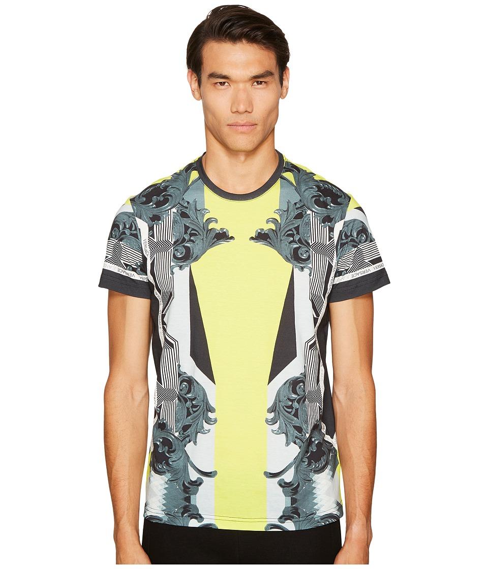 Versace Jeans Baroque Print T-Shirt (Yellow/Green) Men