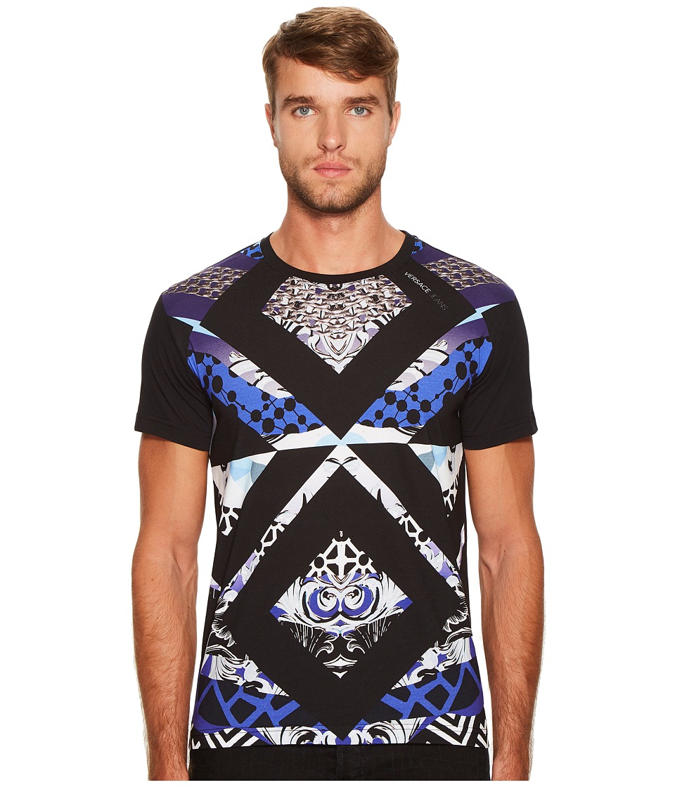 Versace Jeans Geometric Print T-Shirt (Black) Men