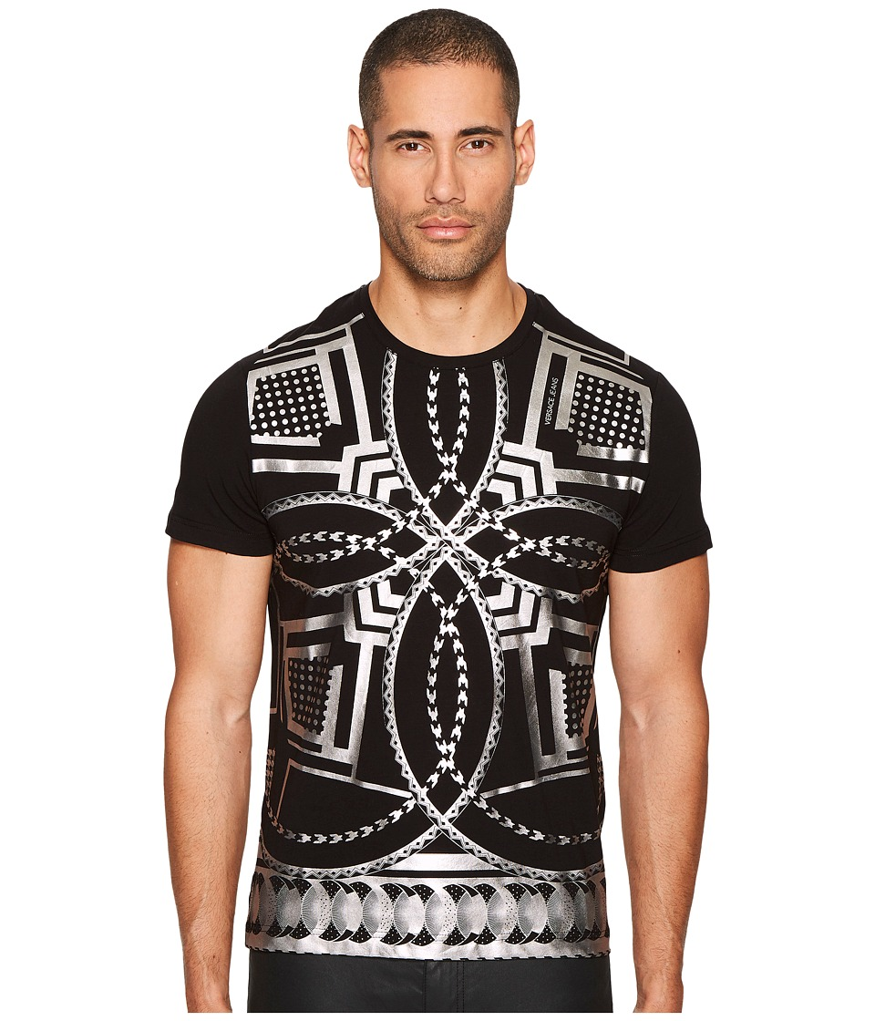 Versace Jeans Metallic Kaleidoscope T-Shirt (Black) Men
