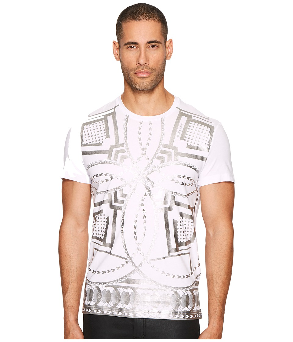 Versace Jeans Metallic Kaleidoscope T-Shirt (White) Men