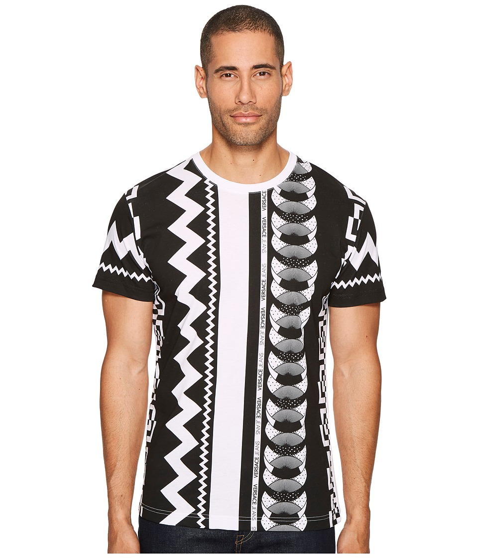 Versace Jeans Vertical Stripes T-Shirt (White) Men