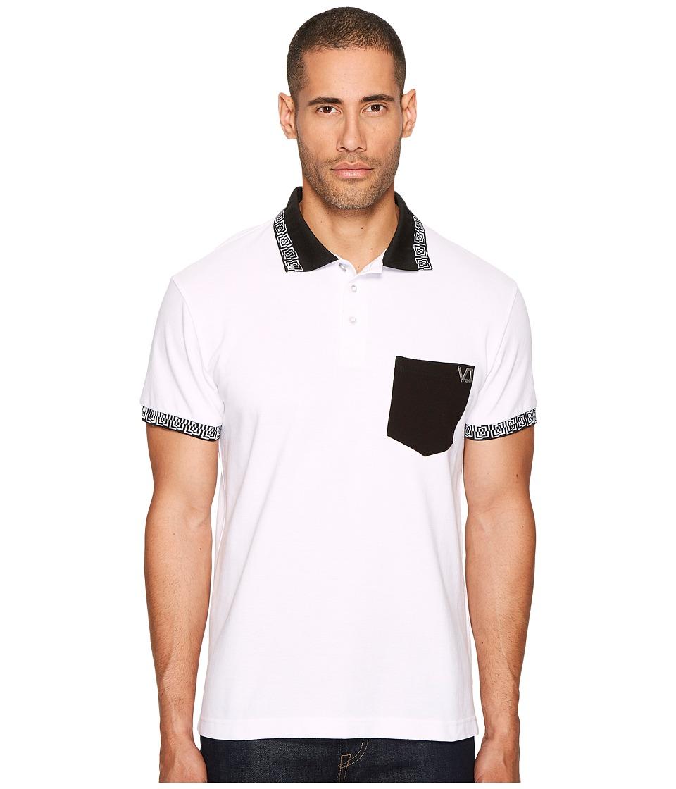 Versace Jeans Contrast Pocket Polo (White) Men