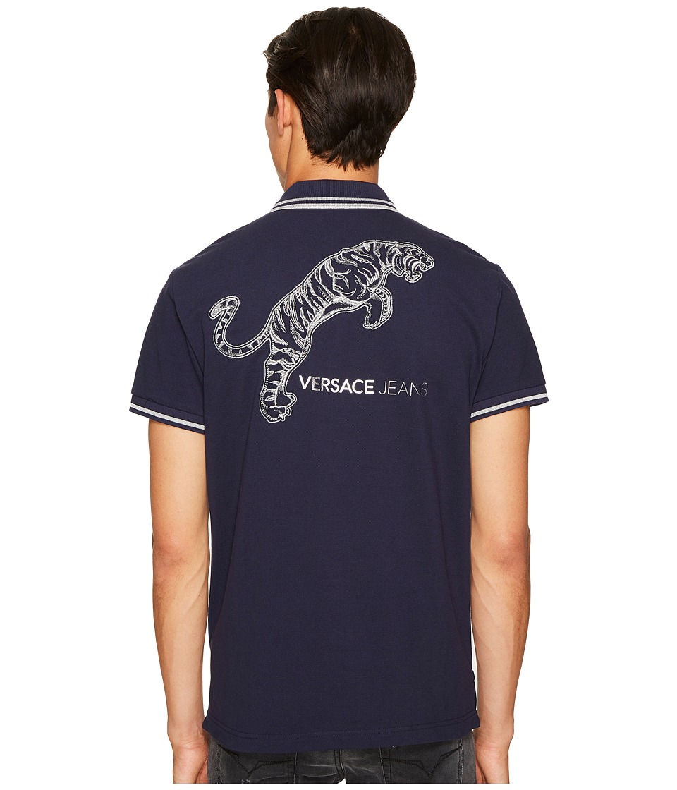 Versace Jeans Tiger Logo Polo (Blue) Men