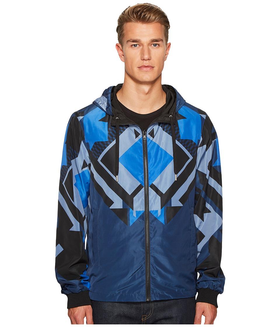 Versace Jeans Hooded Zip-Up Jacket (Cobalt) Men