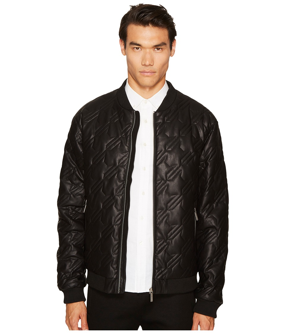 Versace Jeans Quilted Leather Jacket (Black) Men