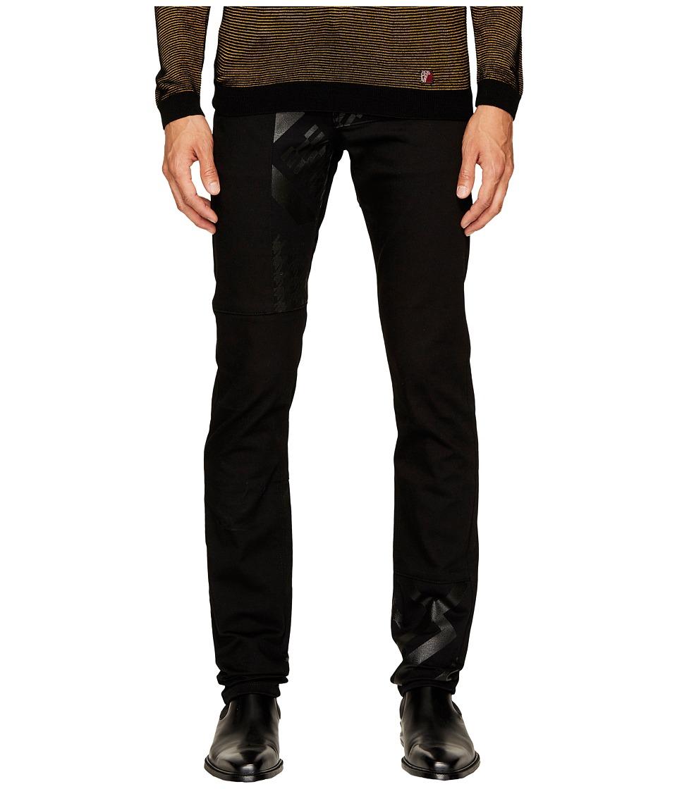 Versace Jeans Tonal Exploded Print Jeans in Black (Black) Men