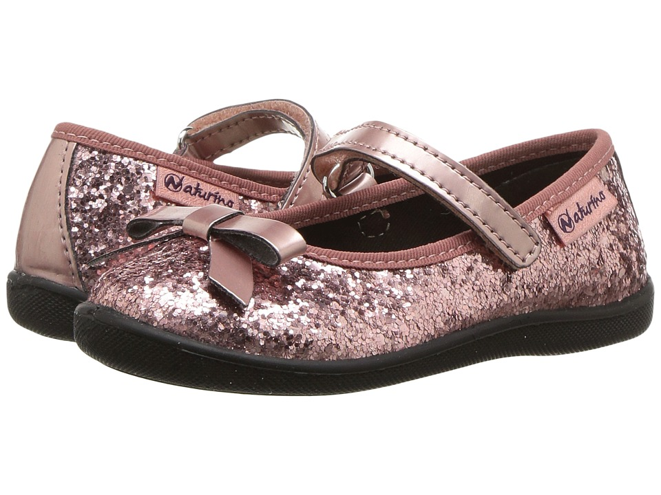 Naturino 8076 AW17 (Toddler/Little Kid/Big Kid) (Pink Glitter) Girl's Shoes