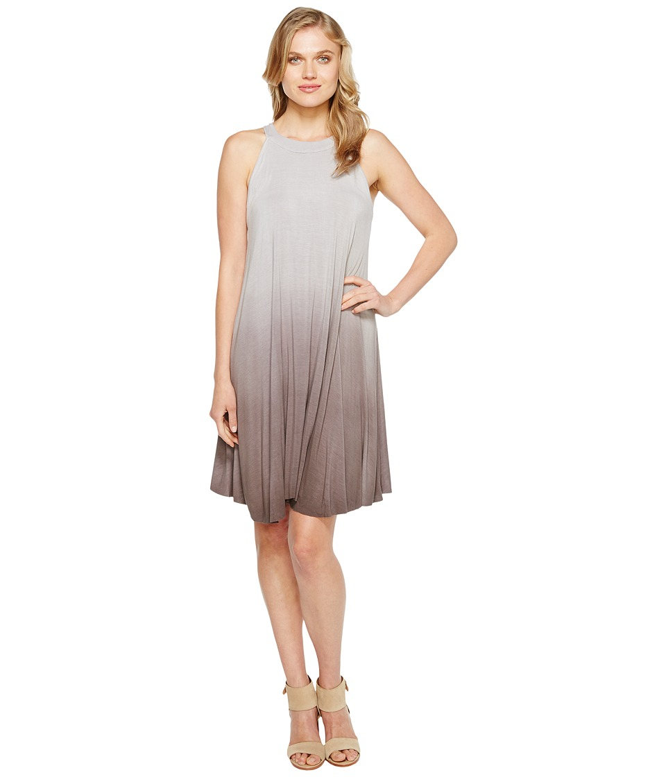 Culture Phit Adrienne Sleeveless Tie-Dye Dress (Charcoal) Women