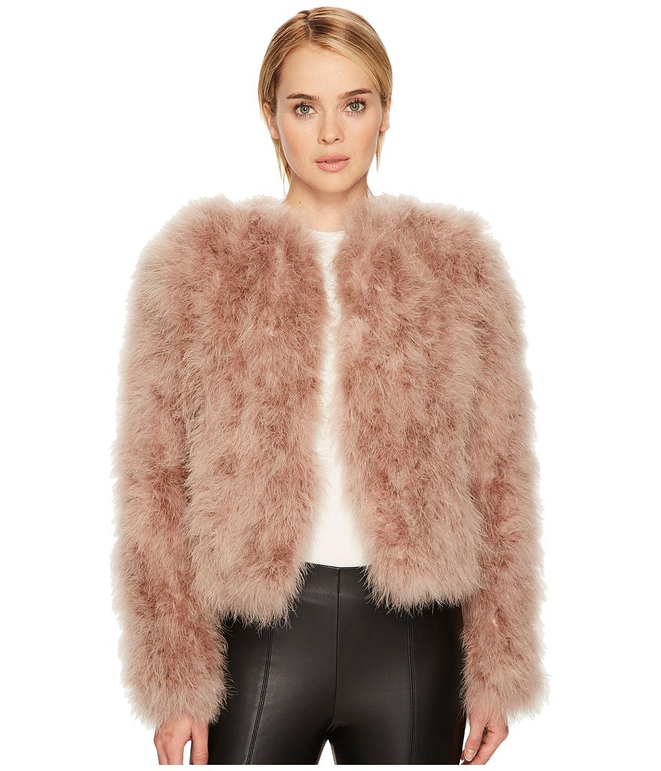 Lamarque Deora Feather Jacket (Pink) Women's Coat