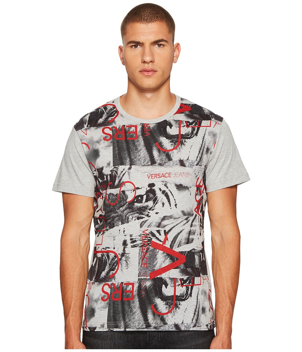 Versace Jeans - Graphic Tee Shirt (Medium Grey) Mens T Shirt