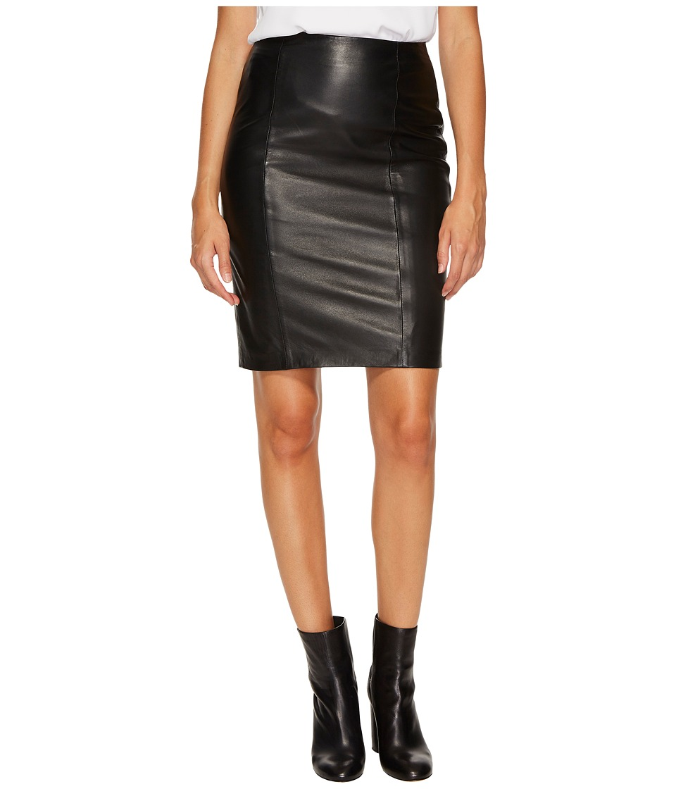 LAMARQUE - Stina Leather Pencil Skirt (Black) Womens Skirt