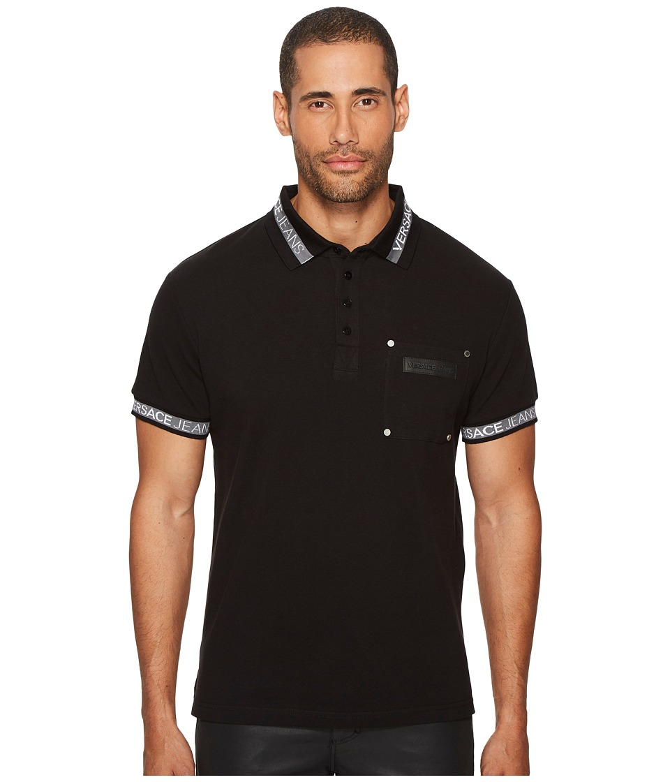 Versace Jeans Printed Pocket Polo (Rhododendron) Men