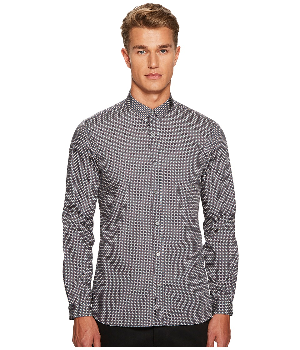 The Kooples - Classic Collar Print Shirt with A Straight Hem