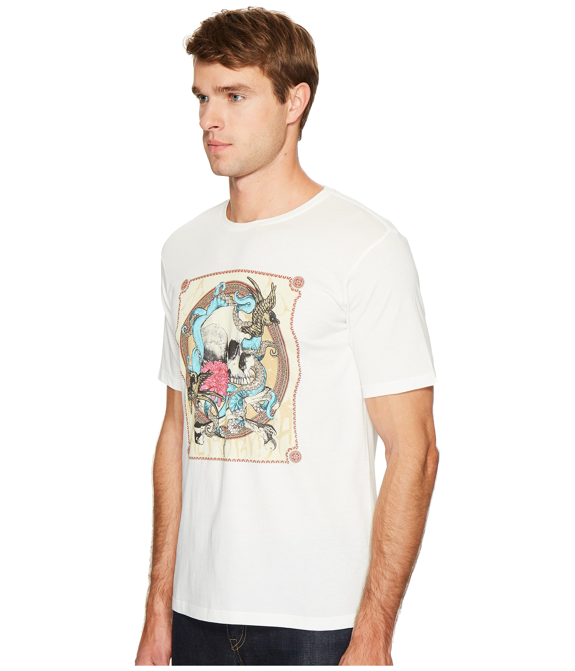 The kooples round collar t shirt with silk screen finish for T shirt silk screening