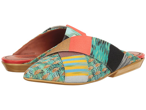 Missoni Pointed Patchwork Mule