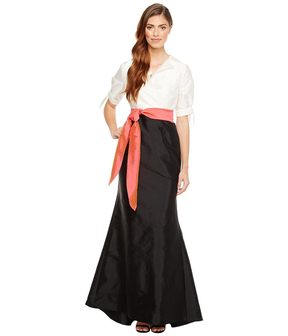 Adrianna Papell - Silky Taffeta Mermaid Gown