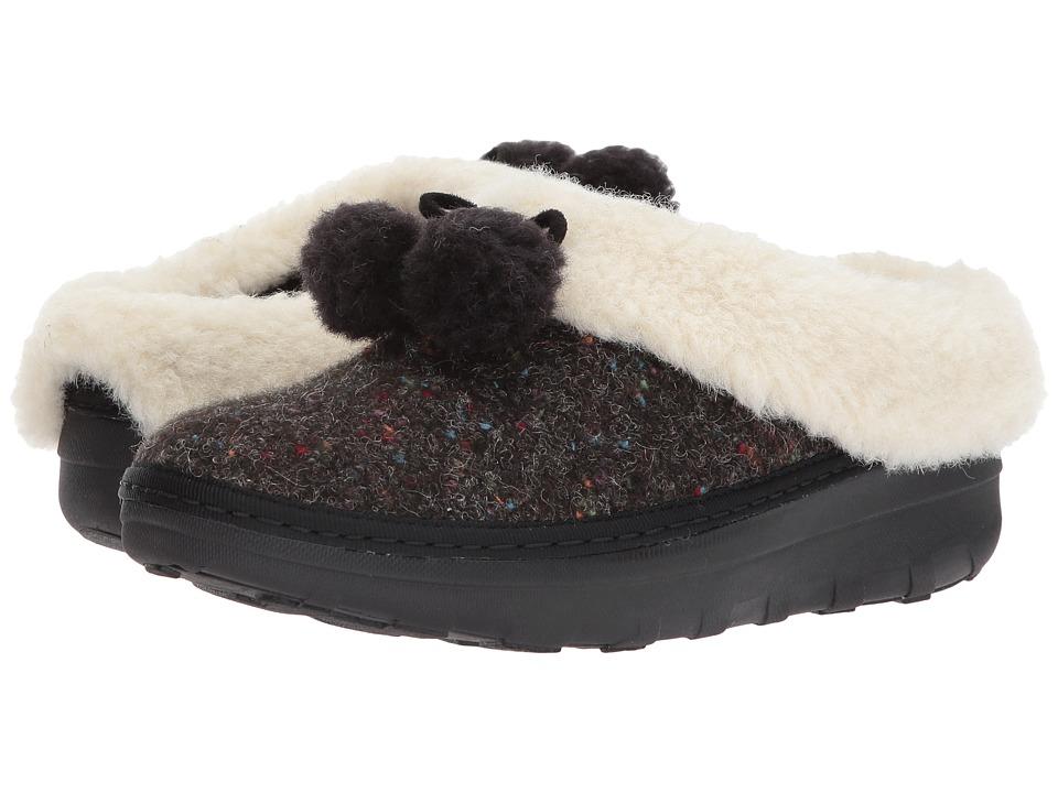 FitFlop Loaff Snug Pom Slippers (Black) Women