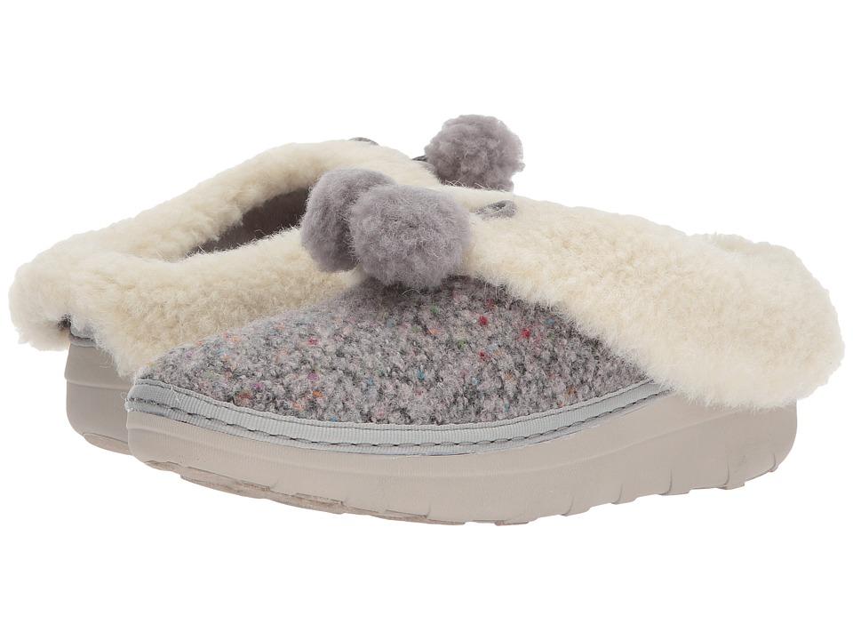 FitFlop Loaff Snug Pom Slippers (Dusty Grey) Women