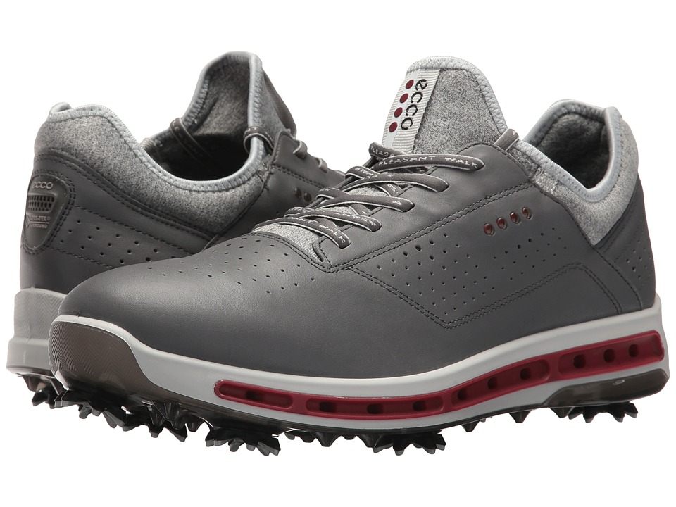 ECCO Golf - Cool 18 GTX (Dark Shadow/Black Transparent) Mens Golf Shoes