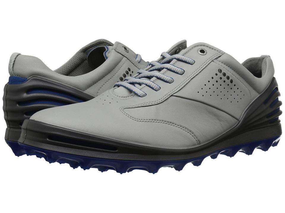 ECCO Golf - Cage Pro (Concrete/Bermuda Blue) Mens Golf Shoes