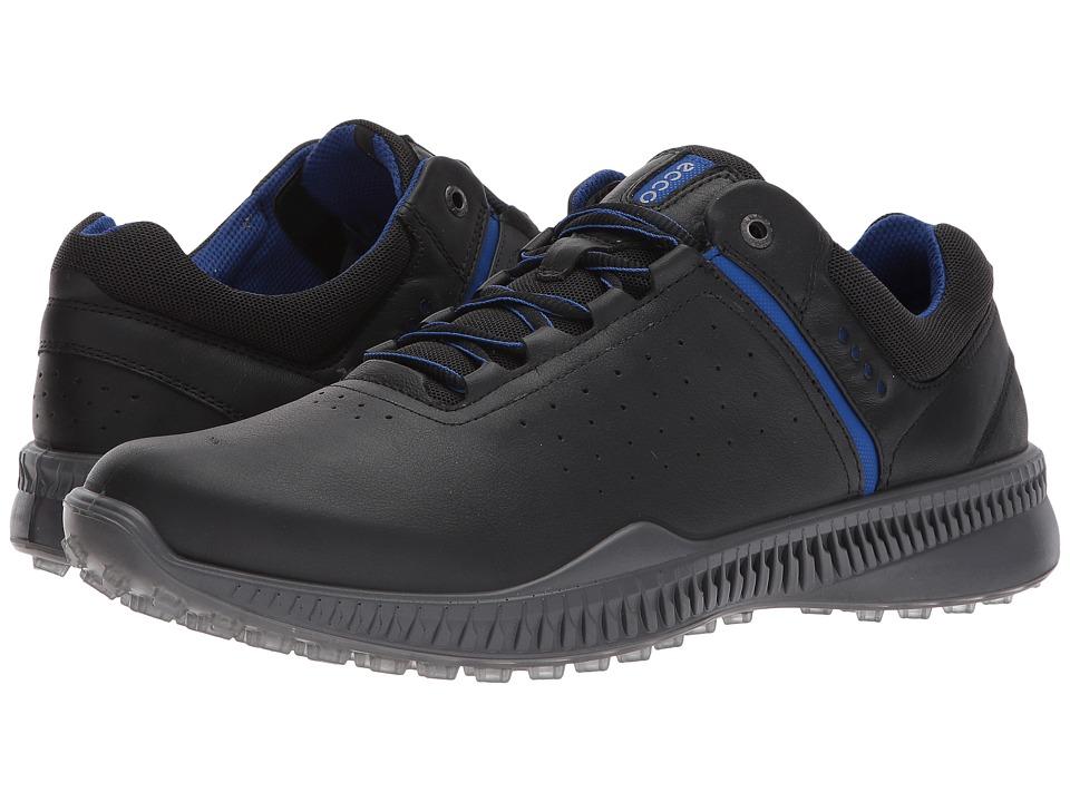 ECCO Golf - S-Drive Perf (Black/Steel) Mens Golf Shoes