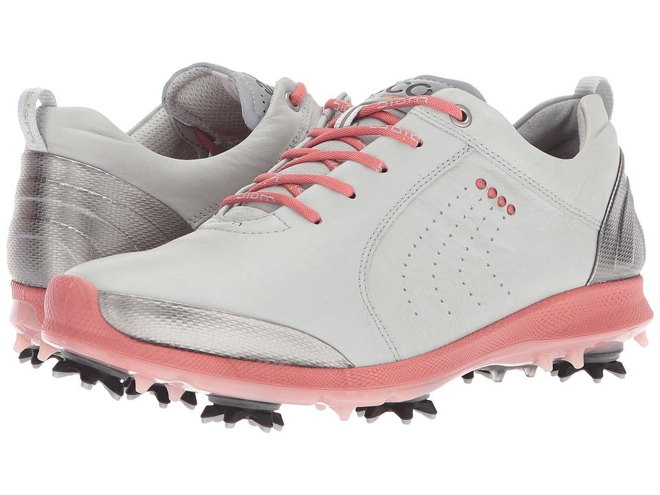 ECCO Golf BIOM G 2 Free (Concrete/Silver Pink) Women's Golf Shoes