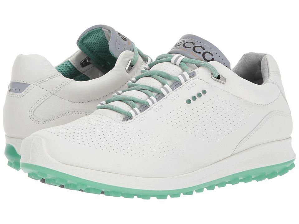 ECCO Golf BIOM Hybrid 2 Perf (White/Granite Green) Women's Golf Shoes