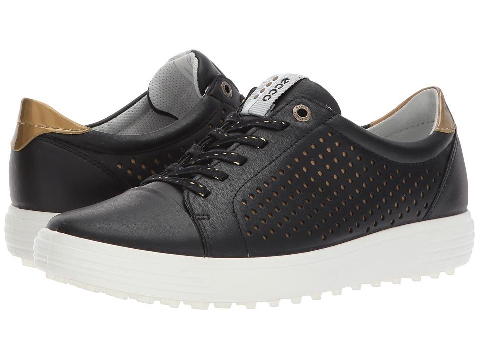 ECCO Golf Casual Hybrid 2 Perf (Black) Women's Golf Shoes