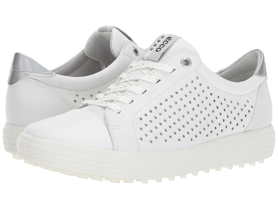 ECCO Golf Casual Hybrid 2 Perf (White) Women's Golf Shoes