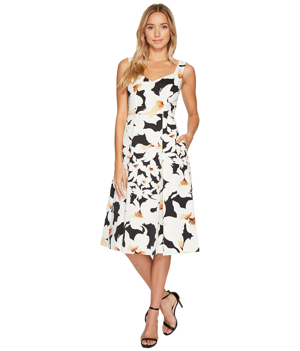 Adrianna Papell Adrianna Papell - Lily Floral Fit and Flare Dress