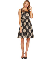Adrianna Papell - Rose Burnout Fit and Flare Dress