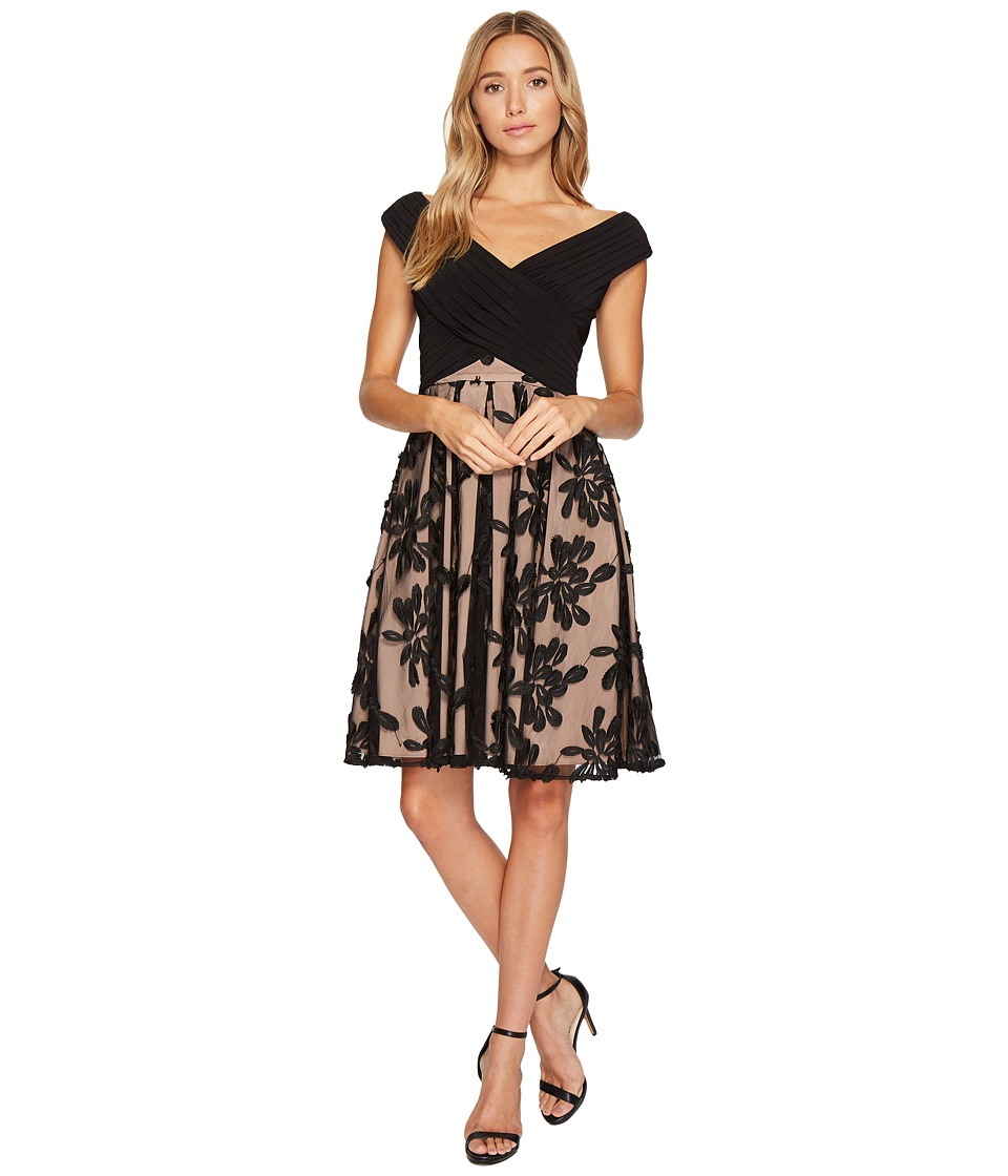 Adrianna Papell Adrianna Papell - Portrait Bodice Fit and Flare Dress