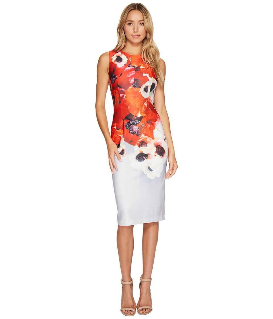 Adrianna Papell - Poppy Delight Midi Sheath Dress