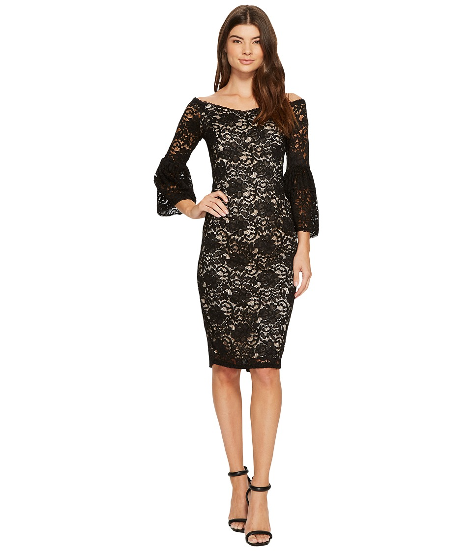 Adrianna Papell Adrianna Papell - Juliet Lace Off Shoulder Fit and Flare Dress