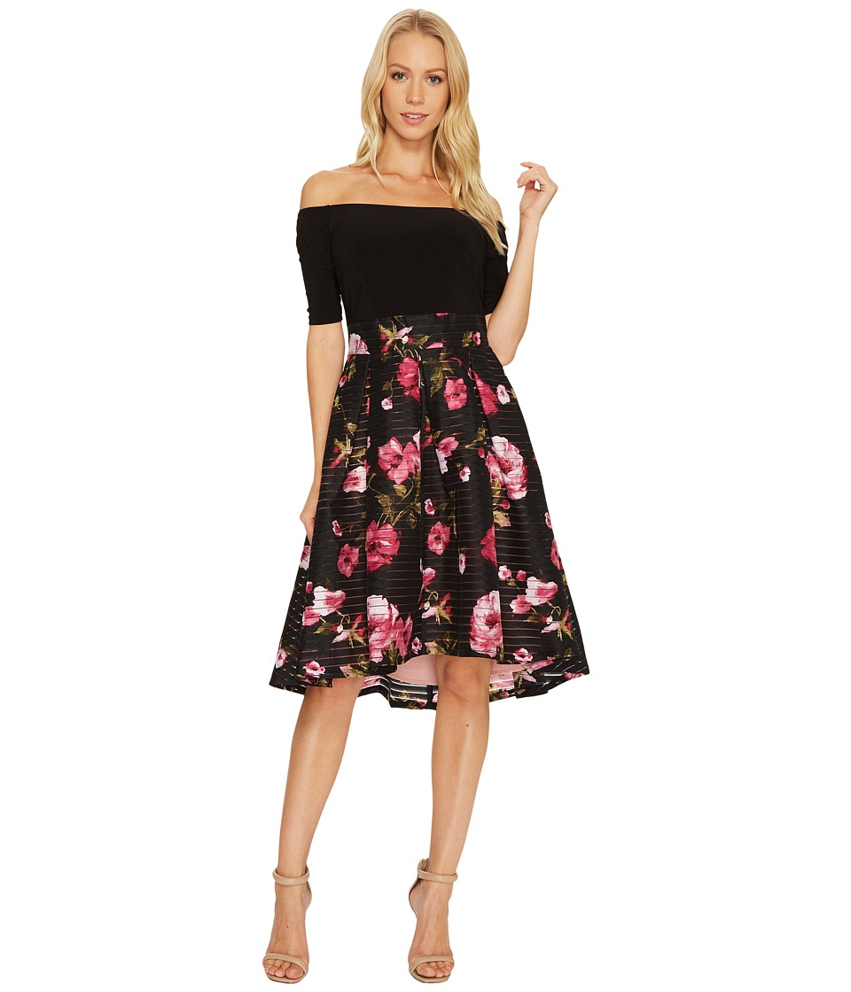 Adrianna Papell - Printed Tafetta Fit and Flare Dress