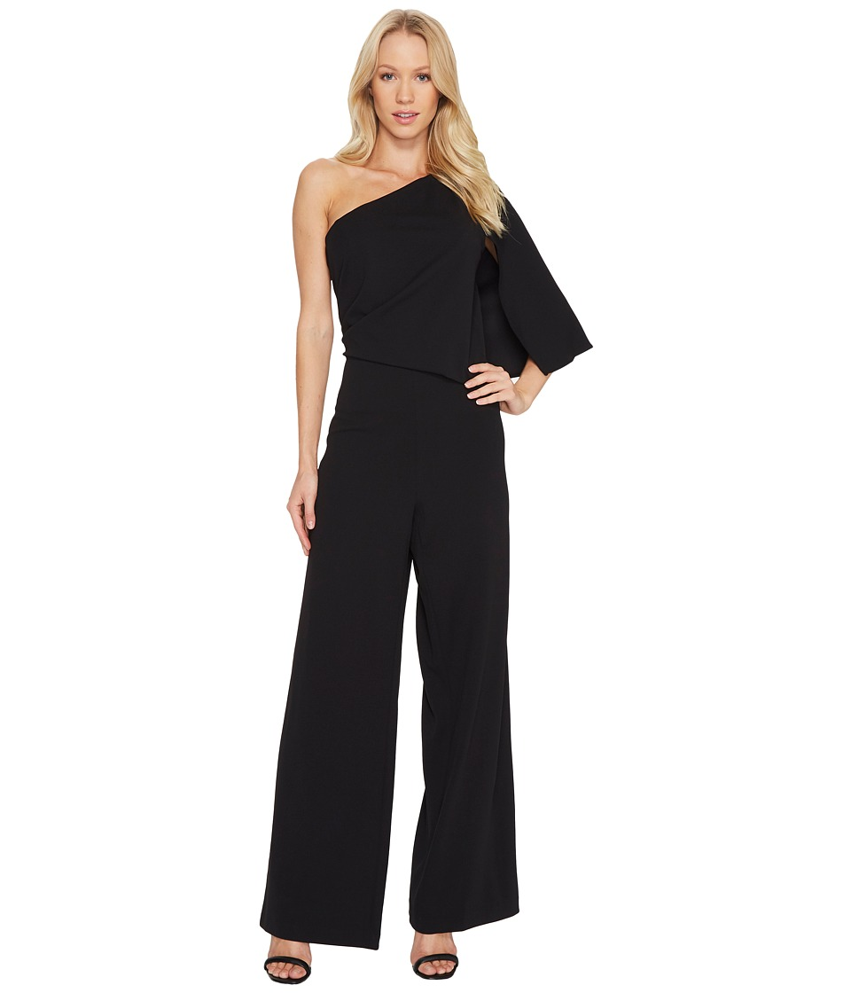 Adrianna Papell - Knit Crepe One-Shoulder Jumpsuit