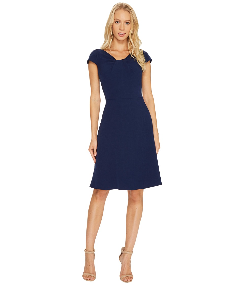 Adrianna Papell Adrianna Papell - Stretch Crepe Drape Neck Dress