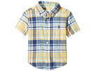 Yarn-Dyed Madras Short Sleeve Button Down Top (Infant)