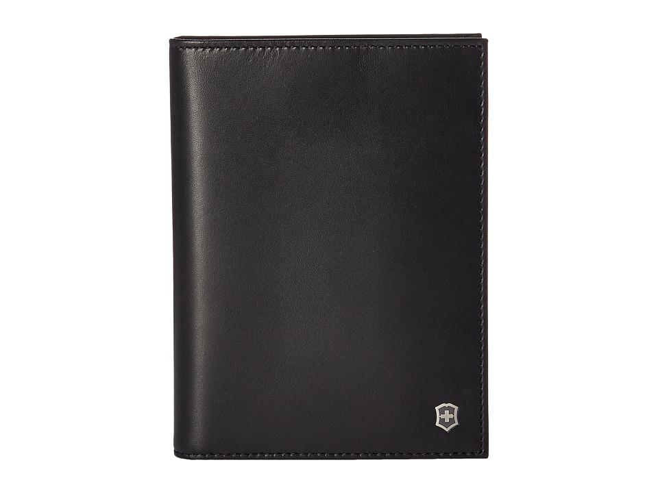 Victorinox - Altius Edge Leibnitz Passport Cover w/ RFID (Black) Wallet