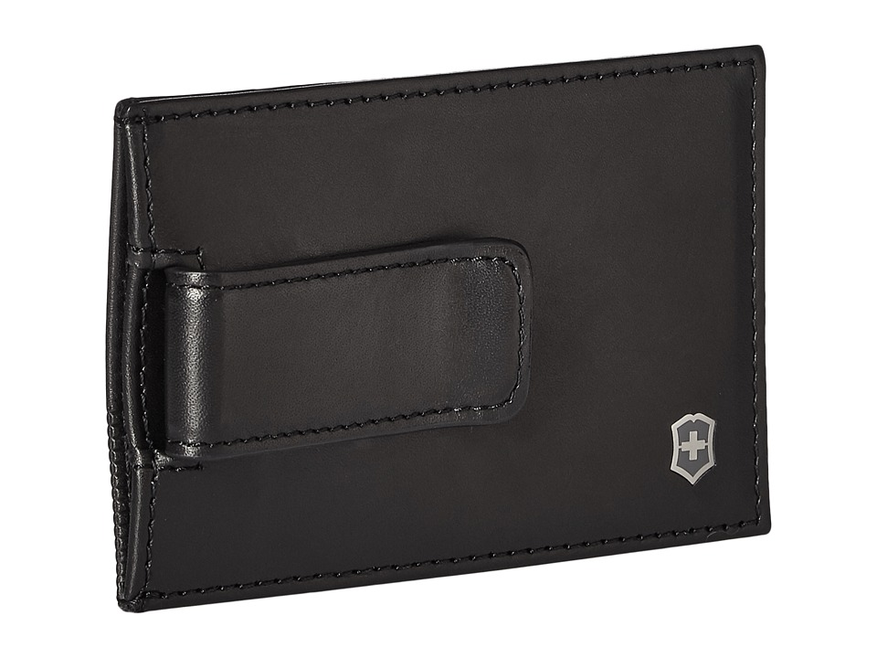 Victorinox - Altius Edge Napier Money Clip w/ RFID (Black) Travel Pouch