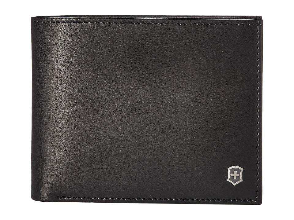 Victorinox - Altius Edge Fermat Bifold Wallet w/ Passcase RFID (Black) Bi-fold Wallet