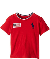 Ralph Lauren Baby - 30s Jersey Big Pony Polo Crew Neck Top (Infant)