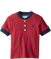 Ralph Lauren Baby - Yarn-Dyed Slub Jersey Short Sleeve Henley Top (Infant)