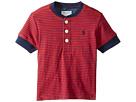 Ralph Lauren Baby - Yarn-Dyed Slub Jersey Short Sleeve Henley Top (Infant)