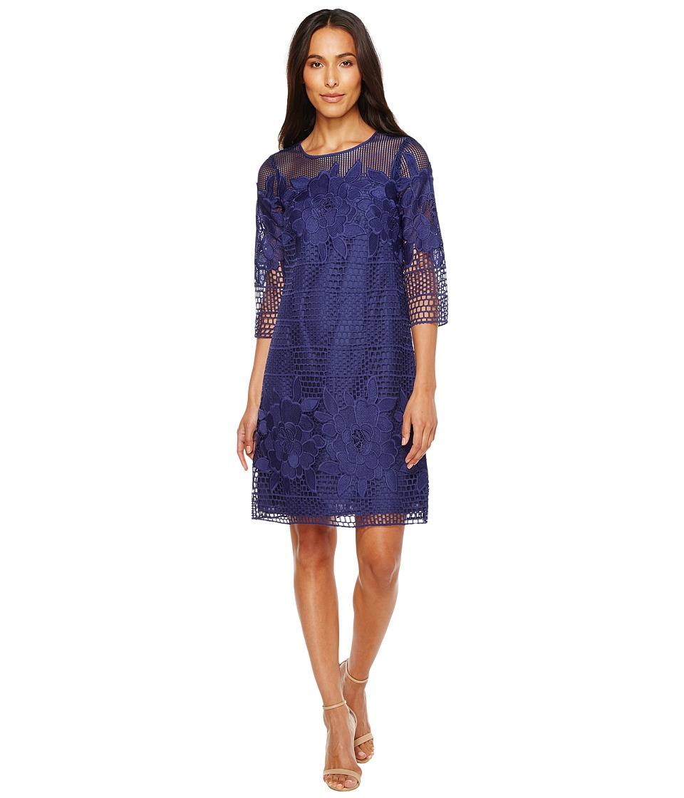 Adrianna Papell - Havana Gardens Lace Long Sleeve Shift Dress