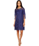 Adrianna Papell - Havana Gardens Lace Long Sleeve Shift Dress