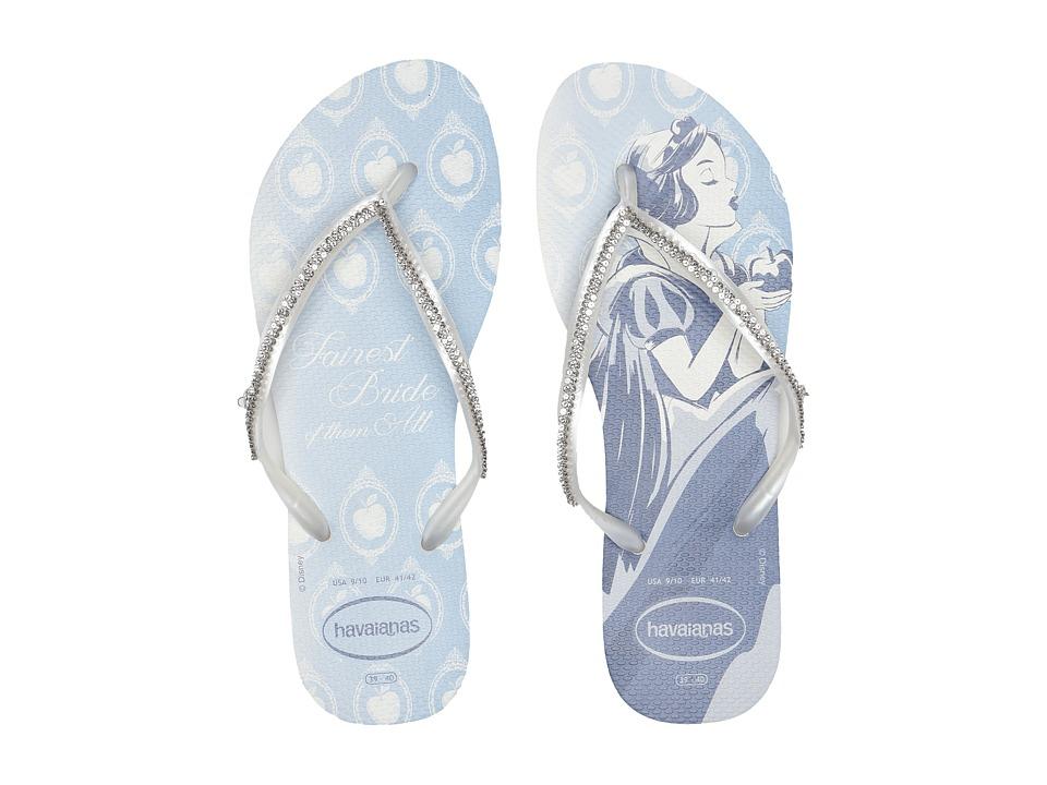 Havaianas - Slim Bridal Snow White Sandal (White/White Snow) Women's Sandals