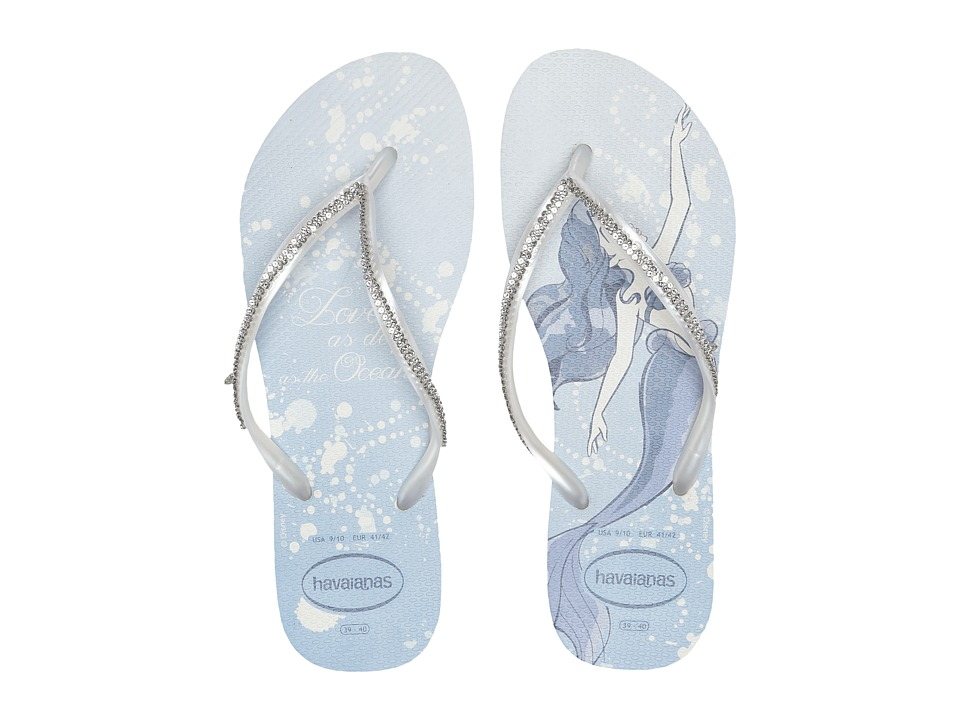 Havaianas - Slim Bridal Ariel Sandal (White/Metallic Ariel) Women's Sandals