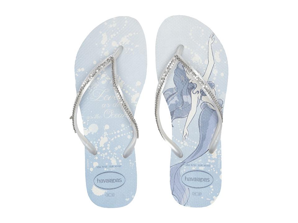 Havaianas - Slim Bridal Ariel Sandal (White/Metallic Ariel) Womens Sandals