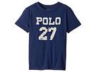 Polo Ralph Lauren Kids - 30/1 Slub Jersey Short Sleeve Crew Neck 2 Top (Toddler)